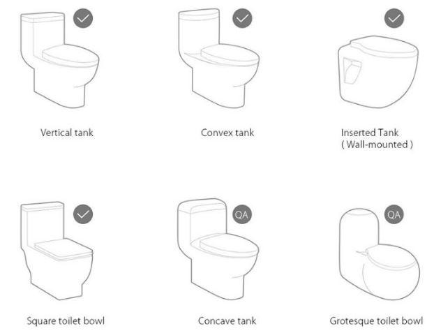 tipos de inodoro compatibles
